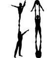 acrobatic stunt vector image vector image