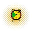 Alarm clock icon comics style vector image