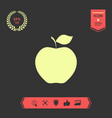 apple icon symbol graphic elements for your vector image