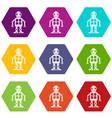 artificial intelligence concept icon set color vector image vector image