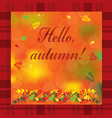 autumn with colorful leaves vector image