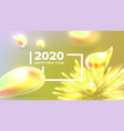 beautiful happy new year xmas 2020 banner vector image vector image