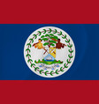 belize waving flag vector image vector image