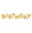 birthday gold glitter balloon inscription vector image