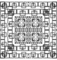black and white geometric greek squares seamless vector image vector image
