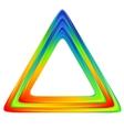 Bright triangle logo Rainbow colors vector image