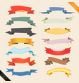cartoon banners and ribbons vector image vector image