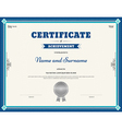 Certificate of achievement template blue vector image vector image