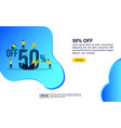 concept discount sale modern conceptual for vector image