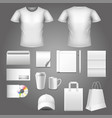 corporate identity template photo realistic set vector image vector image