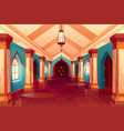 corridor castle or historical hotel palace vector image vector image
