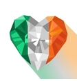 crystal Irish flag Saint Patrick Day vector image vector image