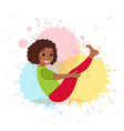 cute cartoon gymnastics for children and healthy vector image