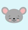 cute cartoon mouse face little kawaii mouse vector image vector image