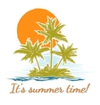 Design print for summer t-shirt with palm trees vector image vector image
