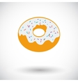 Donut flat icon vector image