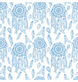 dreamcatcher seamless pattern vector image