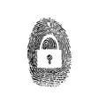 fingerprint security background vector image