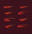 fire flames in tribal style for tattoo vehicle vector image vector image