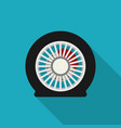 flat tire icon vector image vector image