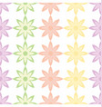 flower and petals seamless design background vector image vector image