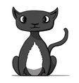 Funny cartoon black cat vector image vector image