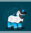 futuristic robotic dog or pet toy at abstract vector image