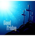 good friday with image of vector image vector image