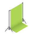 green screen backdrop background on racks in vector image vector image