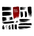 Hand-painted brush strokes vector image vector image