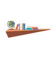 hanging book shelf flat design vector image vector image