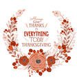 Happy Thanksgiving Day greeting card bird and hand vector image vector image