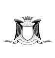 heraldry design vector image vector image