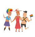 homosexual gay and lesbian people marriage man vector image vector image