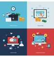 Icons for time is money pay per click online vector image