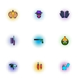 Manhunt icons set pop-art style vector image vector image
