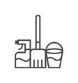 mop water bucket spray icon simple car sign vector image