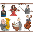 musicians characters set cartoon vector image vector image