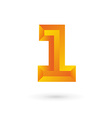 Number one 1 logo icon design template elements vector image vector image