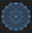 ornate stylized snowflake or zentangle mandala on vector image vector image