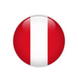 peru flag on button vector image vector image