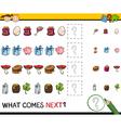 preschool educational pattern task vector image