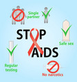 prevention methods against infection aids vector image