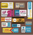 sale coupon card percent discount symbol vector image vector image