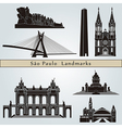 Sao Paulo landmarks and monuments vector image vector image