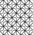Seamless diagonal ellipse ring pattern background vector image vector image