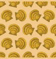 seamless pattern with yellow shell paper vector image vector image