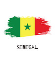 senegal watercolor national country flag icon vector image