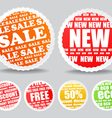 Shopping colorful discount labels collection