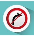 sign traffic white and red blank design vector image vector image